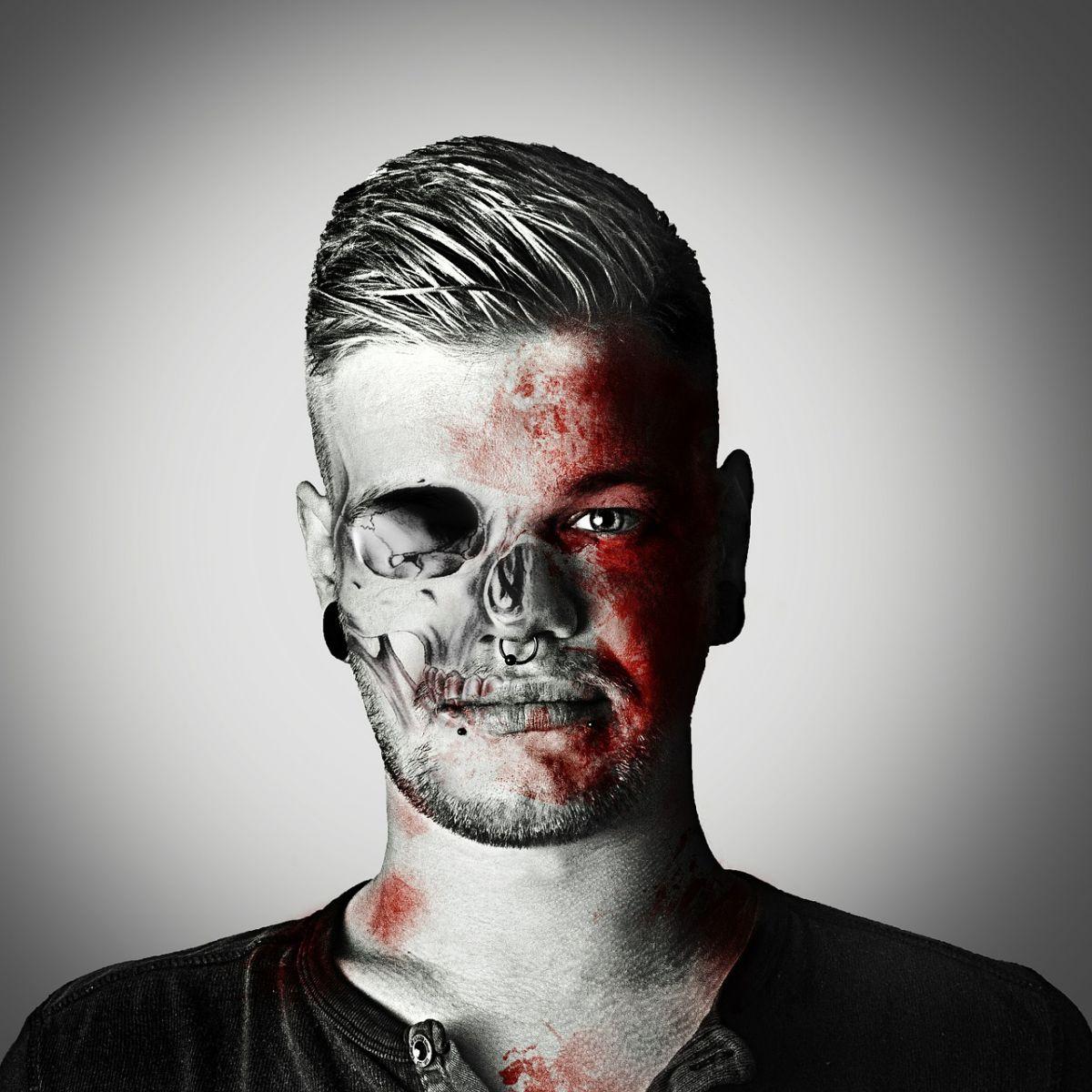 Cara de zombi